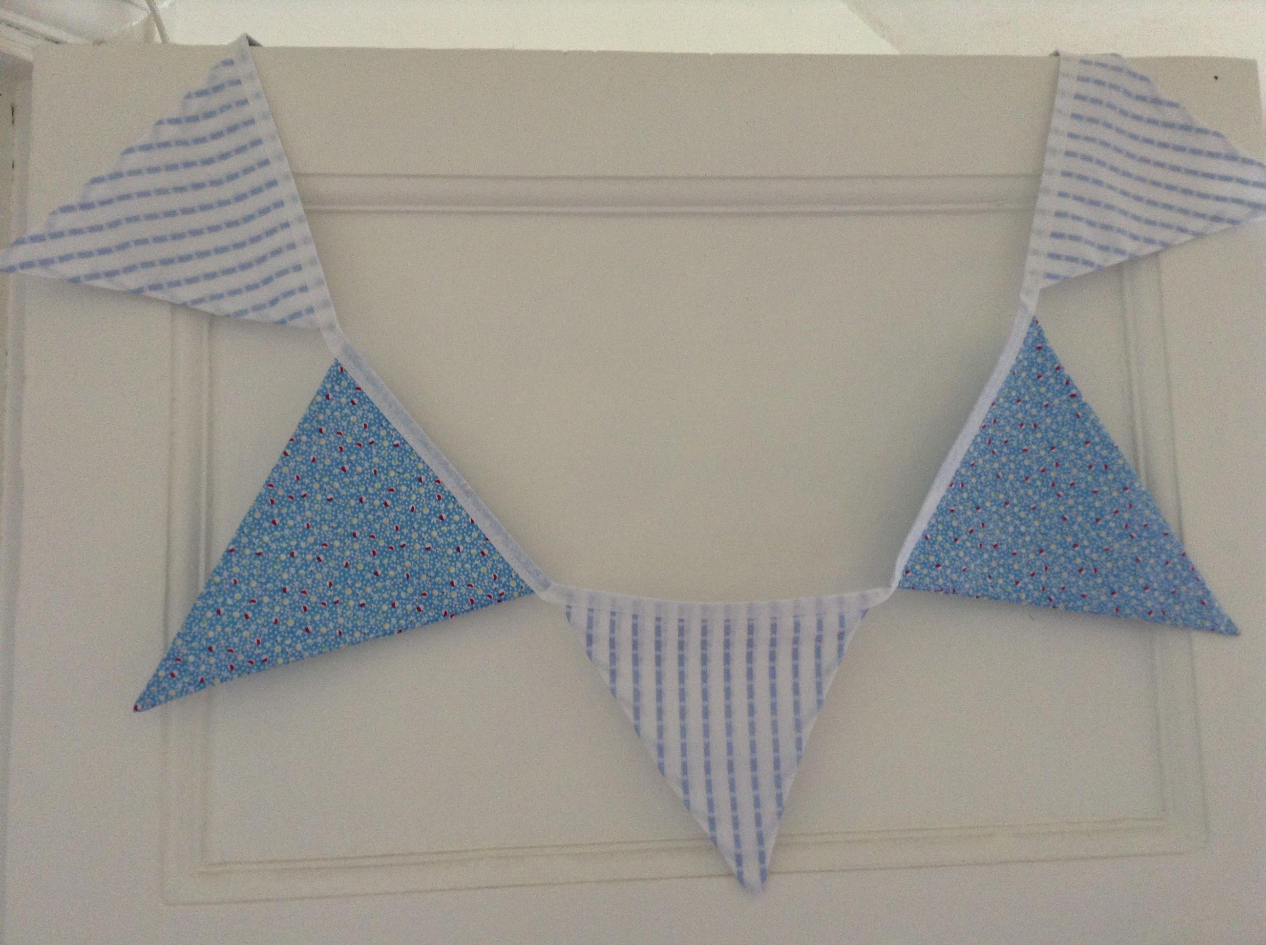 Blue nursery bunting baby shower gift garland kids bedroom decor