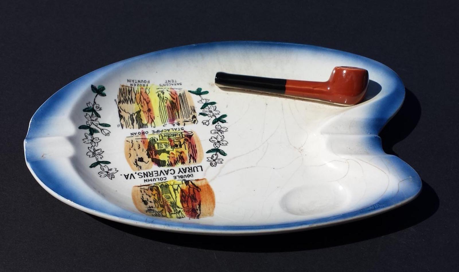 ashtray PIPE smoking pipe plate LURAY CAVERNS , VA visit our ebay ...