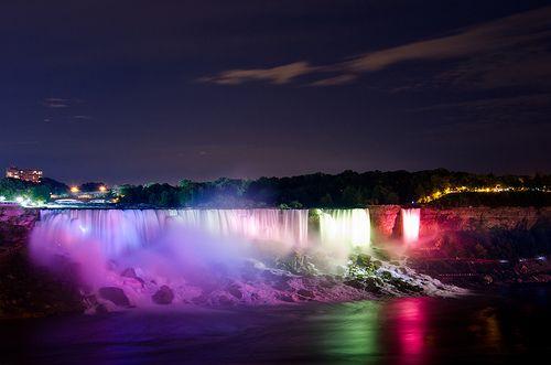Niagara Falls By Night-Time.