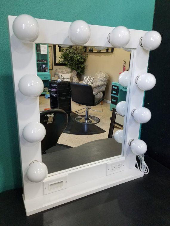 Desk Mirror With Lights Dim