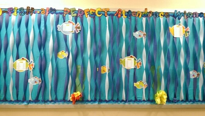 Window Decoration Ideas For Classroom ~ Underwater bulletin board library displays