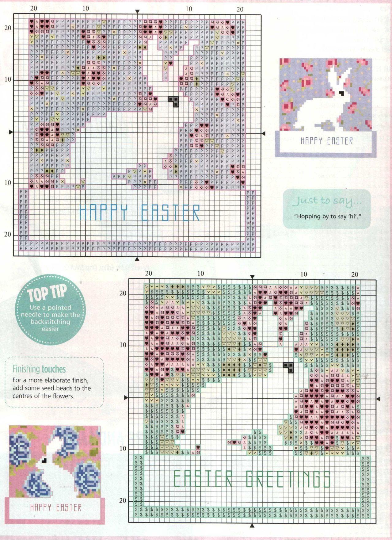 Easter - free cross stitch pattern   px   Pinterest