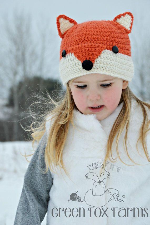 Kids Fox Hat, Kids Animal Hat, Kids Winter Hat, Crochet Fox Hat ...