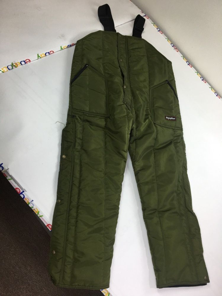 ebay sponsored men s green refrigiwear heavy duty on womens insulated bib overalls id=83837