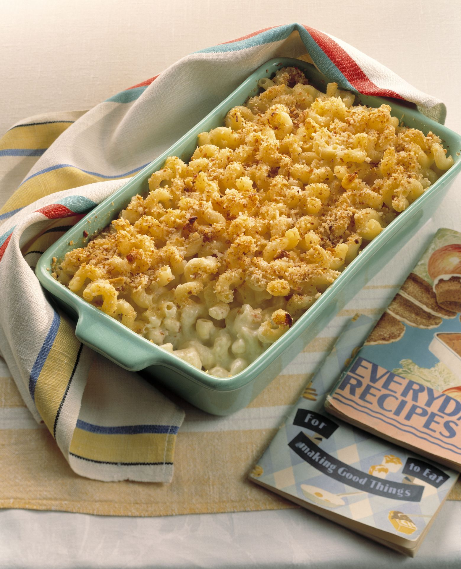Baked Macaroni With Three Cheeses Recipe Food Recipes Cottage Cheese Recipes Casserole Recipes