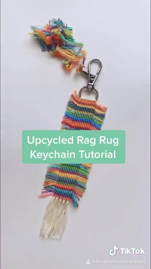 Upcycled Keychain Tutorial