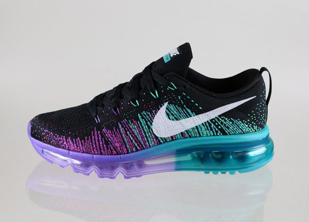 ccc796ded8 Nike Flyknit Air Max WMNS - Black / White - Purple Venom - Turbo ...