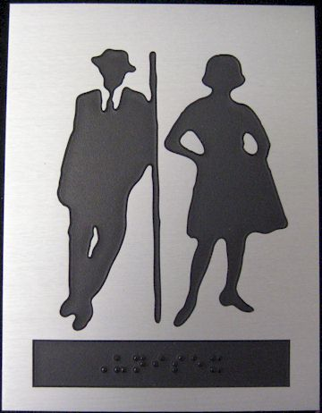 unisex bathroom sign is a sign to show that a bathroom which designates to use both women and men unisex bathroom sign is more practical than providing two