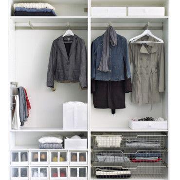 rangement 3 astuces pour gagner de la place dans un placard placard place et rangement. Black Bedroom Furniture Sets. Home Design Ideas
