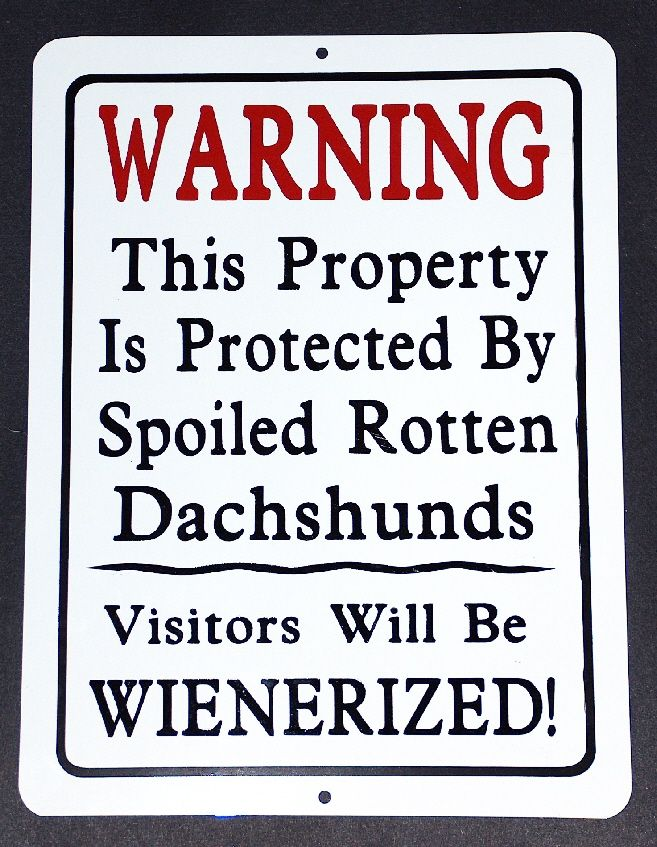 Warning These Are The Best Small Living Room Ideas Of The: Dachshund Warning / Metal Sign -I Need One Of These!