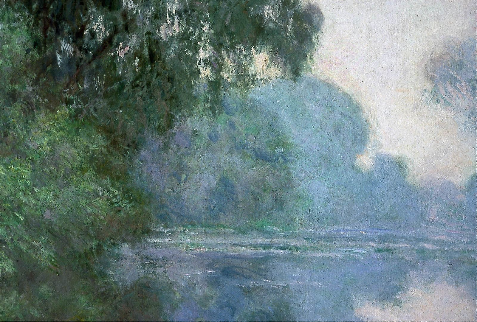 Morning on the Seine, near Giverny | Monet oil paintings, Giverny, Claude  monet