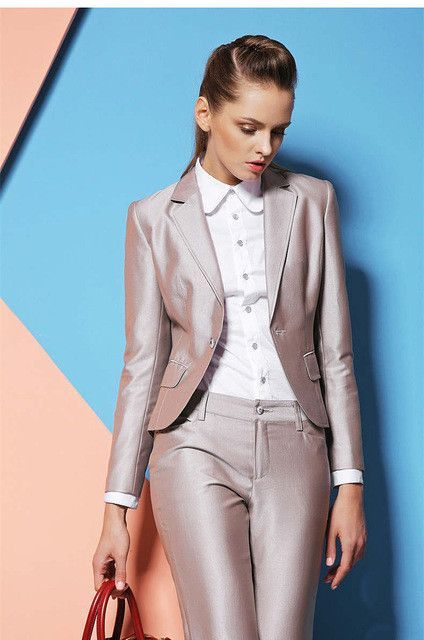 Custom made High Quality Formal Ladies Pant Suits for Women Work ...