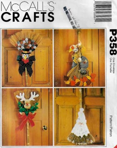 Broom Dolls Holiday Decor Sewing Pattern UNCUT McCall's P358 / 8950