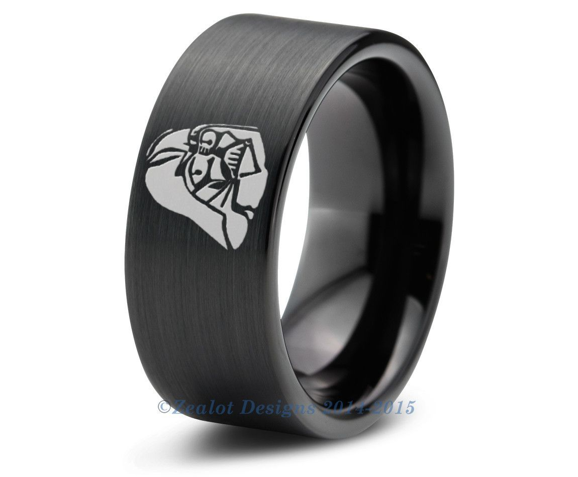 cb07eb10ce2 Star Wars Darth Vader Inspired Tungsten Wedding Band Ring Mens Womens