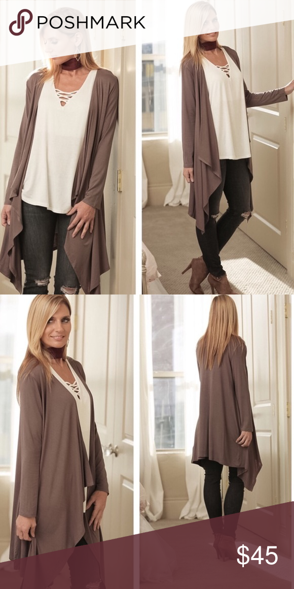 Fall Breeze Cardigan in Dark TaupeBoutique | A well, Sweater ...