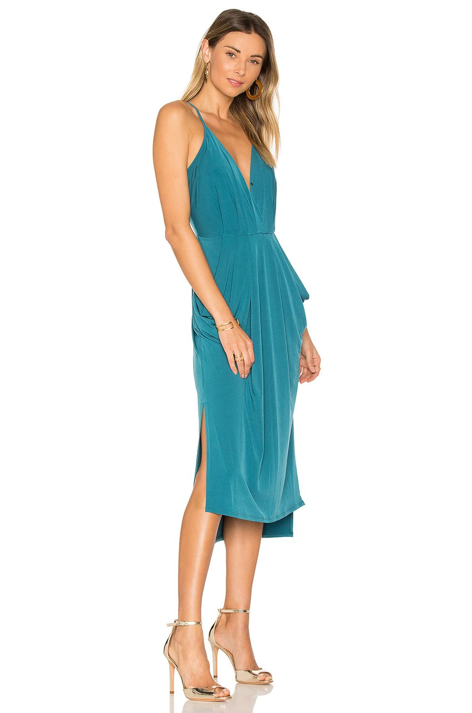 BCBGeneration Double Slit Dress in Cerulean | REVOLVE | The Party ...