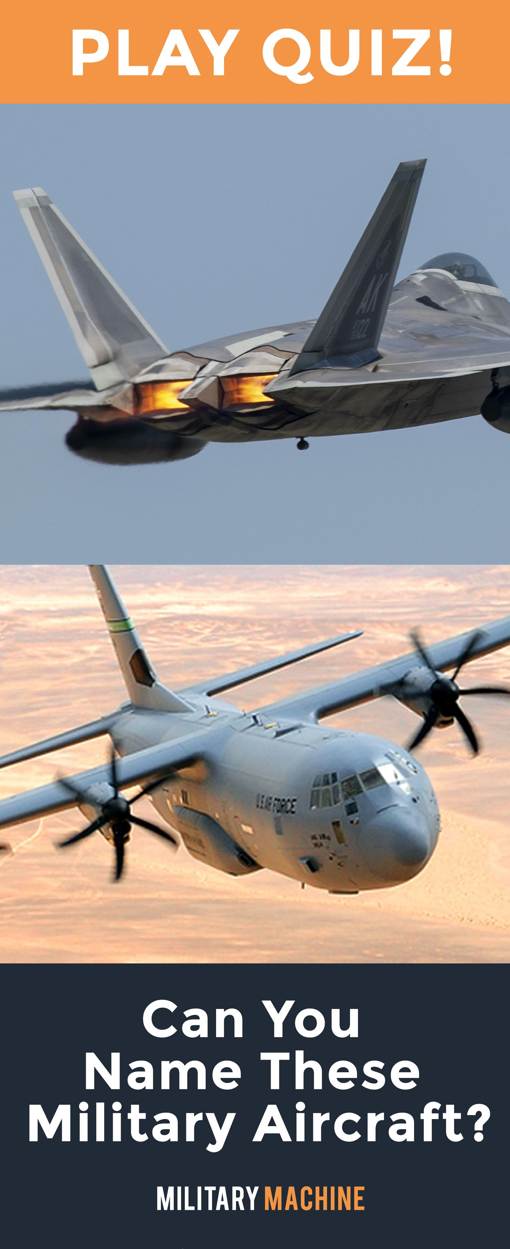 Can You Name These Military Aircraft By Image? | Planes ...