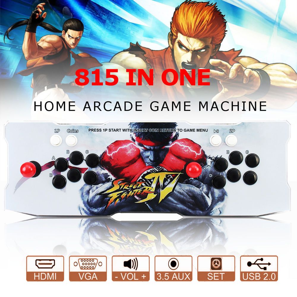 815 in 1 Video Games Arcade Console Machine Double Stick