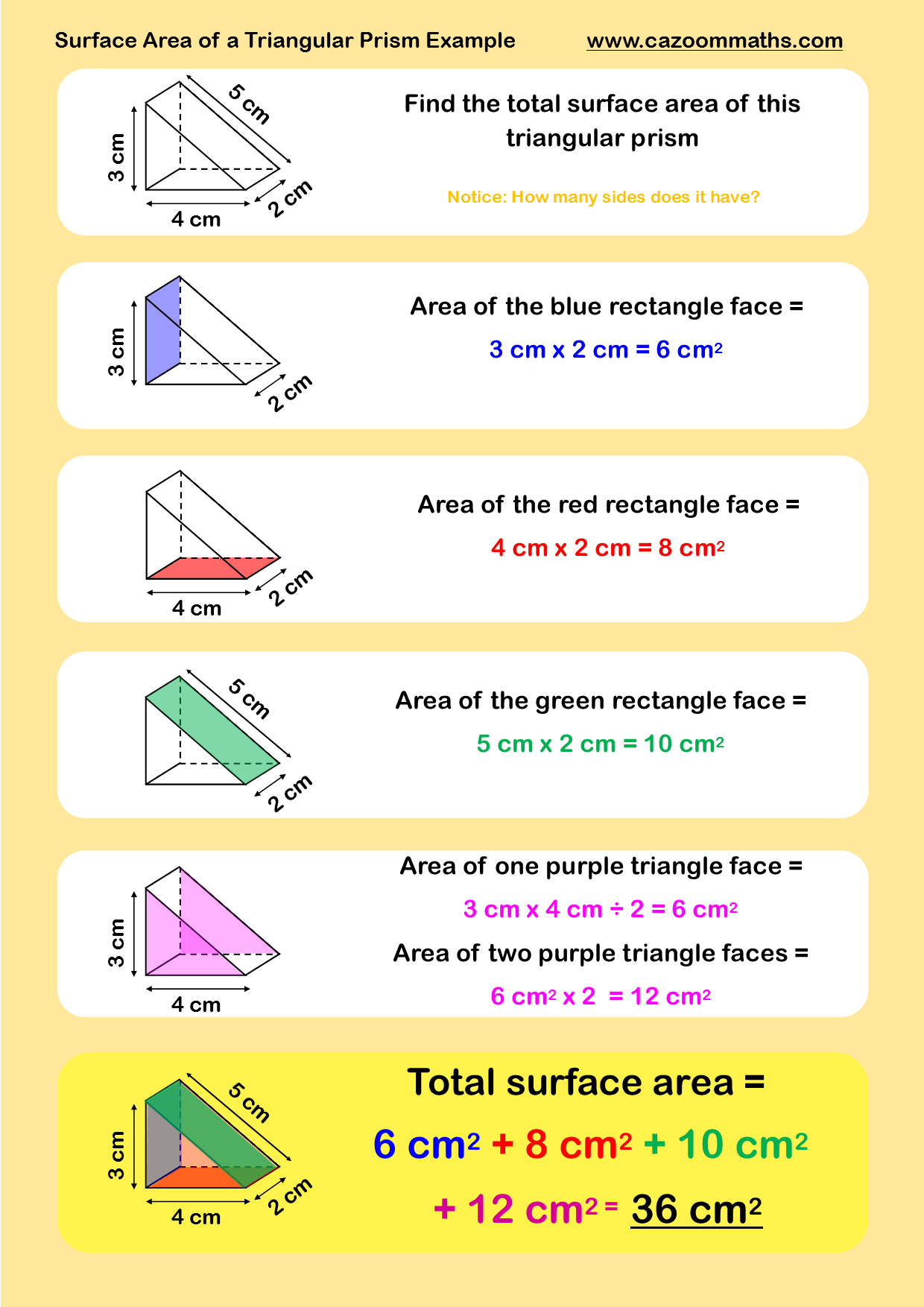 GCSE Maths Geometry Worksheets | Surface area, Printable maths ...
