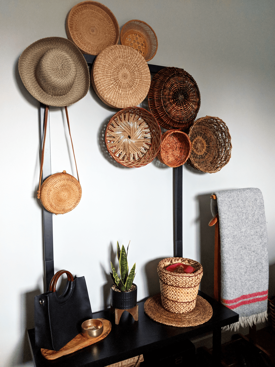 Thrift This Look Boho Basket Wall Decor Audrey Would Basket