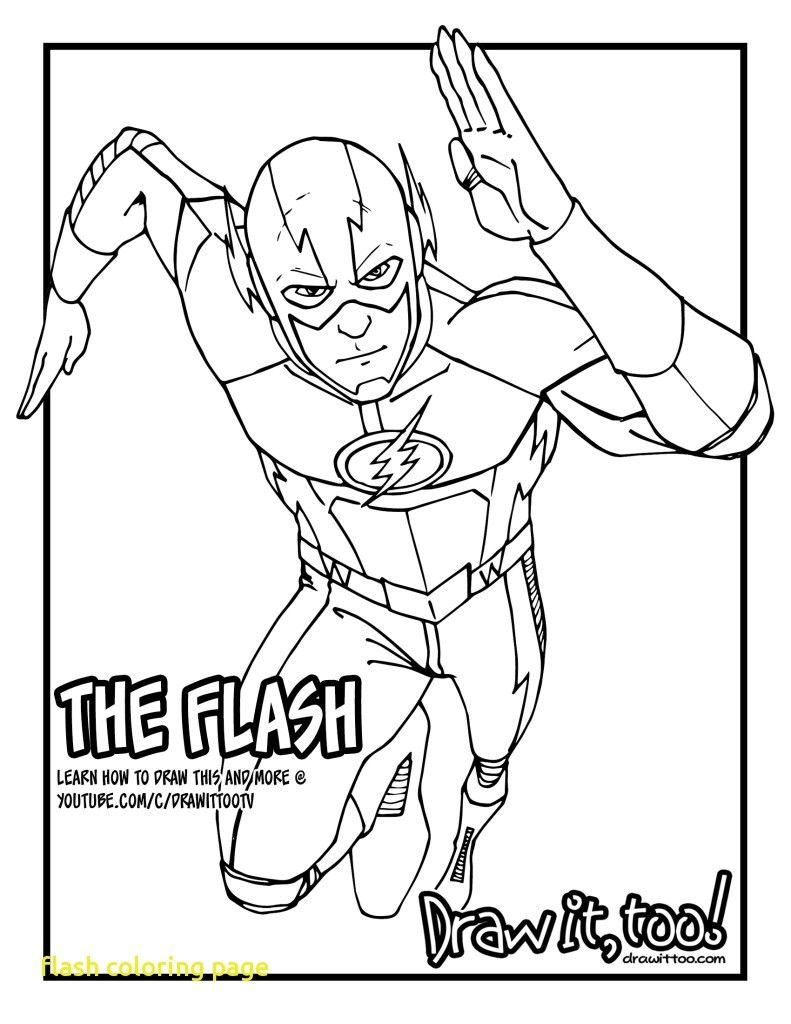 Flash Logo Coloring Pages Download