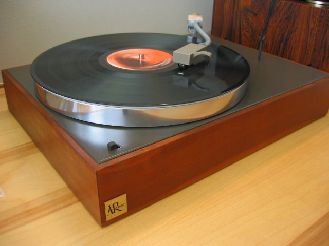 The AR turntable, a classic  A number of audiophiles swore