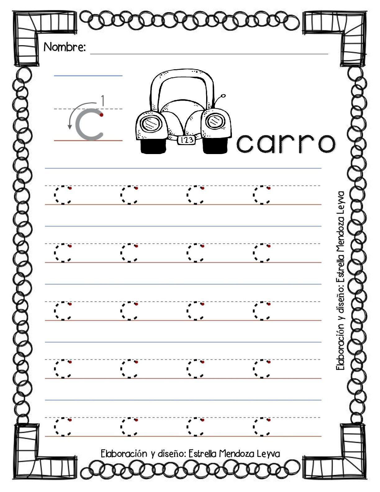 Libro de grafomotricidad todas las letras en trazos | letra C y Q ...