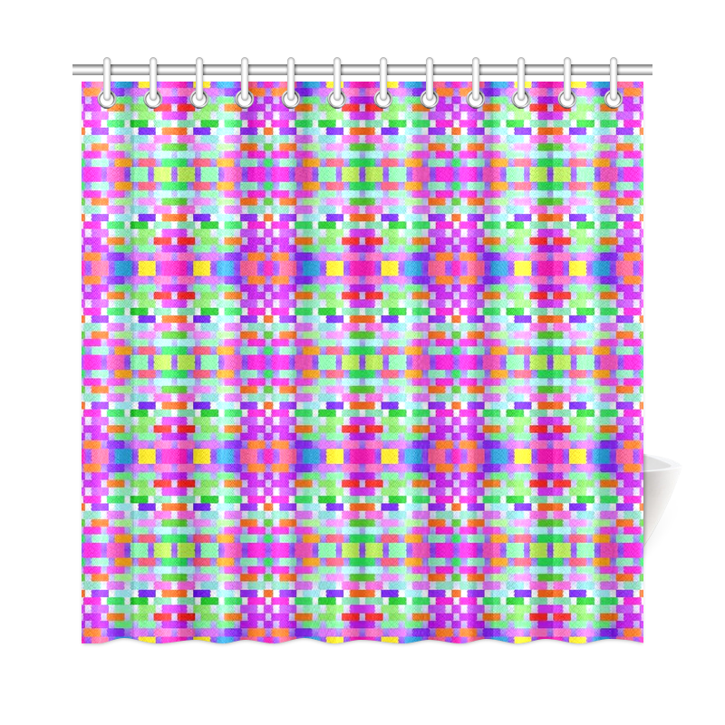 funny vivid pattern 9 Shower Curtain 72