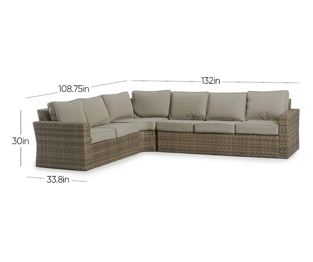 Broyhill Eagle Brooke Sectional Big Lots In 2020 Sectional Broyhill Outdoor Sectional Sofa