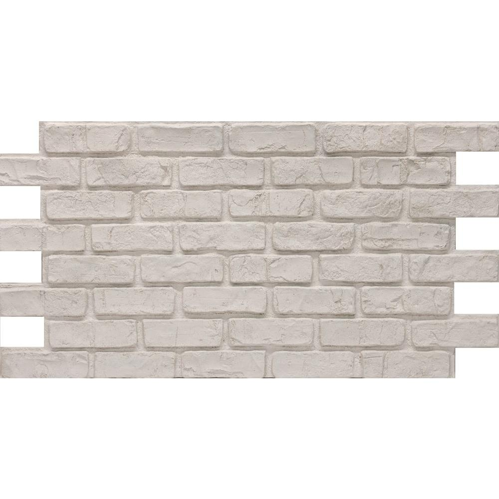 Urestone Old Town 24 In X 46 3 8 Faux Used Brick Panel 4 Pack Ul2600pk 70 The Home Depot