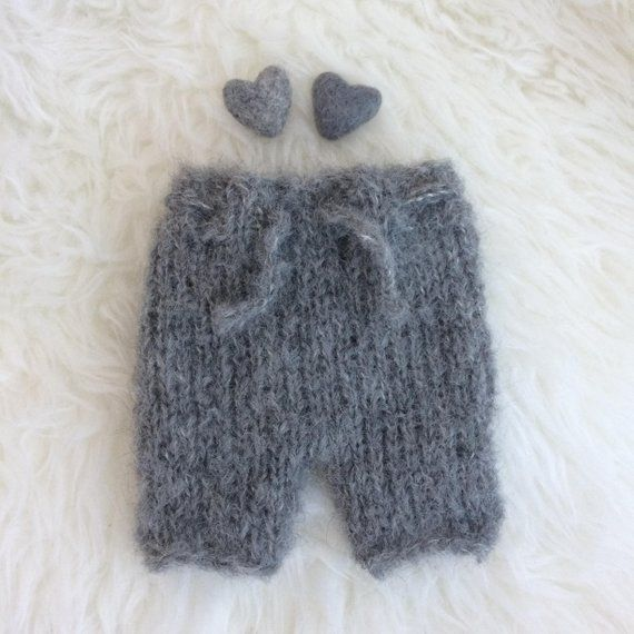 1f4a9eb38ca Sitter outfit shorts boy girl photo prop knit baby pants neutral ...