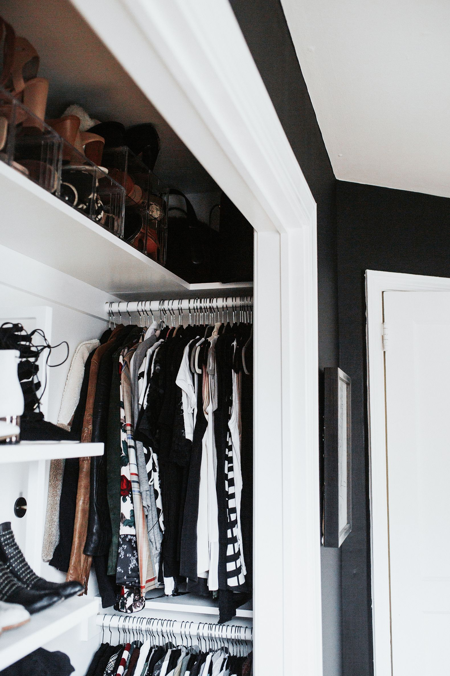 Before After Small Reach In Closet Renovation Meg Biram In
