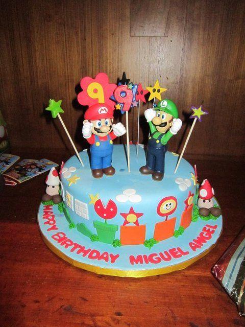 Birthday cake at a Mario Party #cake #mario