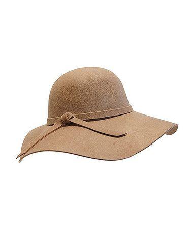 8b46f0b5db2 Loving this Camel Floppy Wool Hat on  zulily!  zulilyfinds ...
