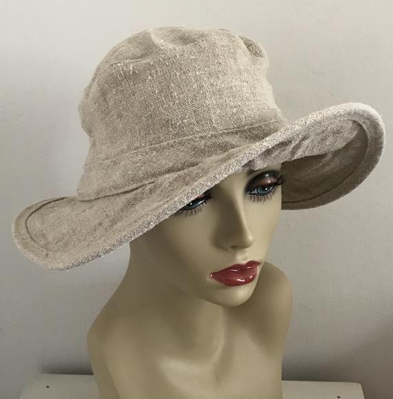 3fc48565180b2 hemp hat . natural hemp hat . watershed trading company flappy hemp hat .  size L . gardening hat . m