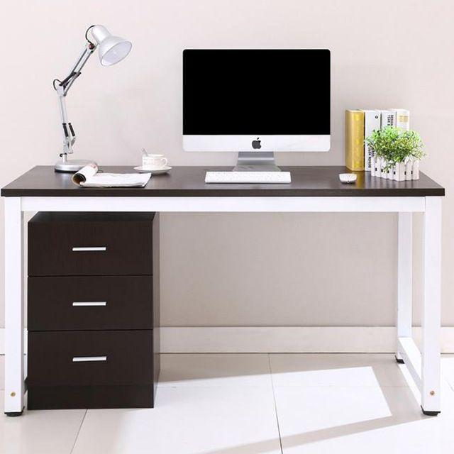 Double bureau en bois de bureau home office cantine table simple