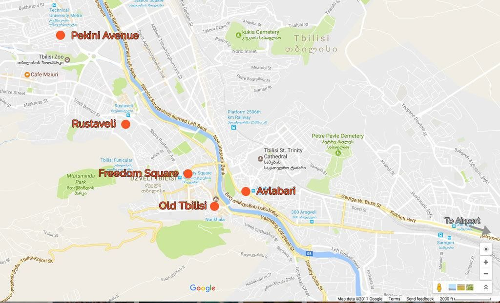 Best Hotels In Tbilisi Georgia in 2019 RTW MAPS