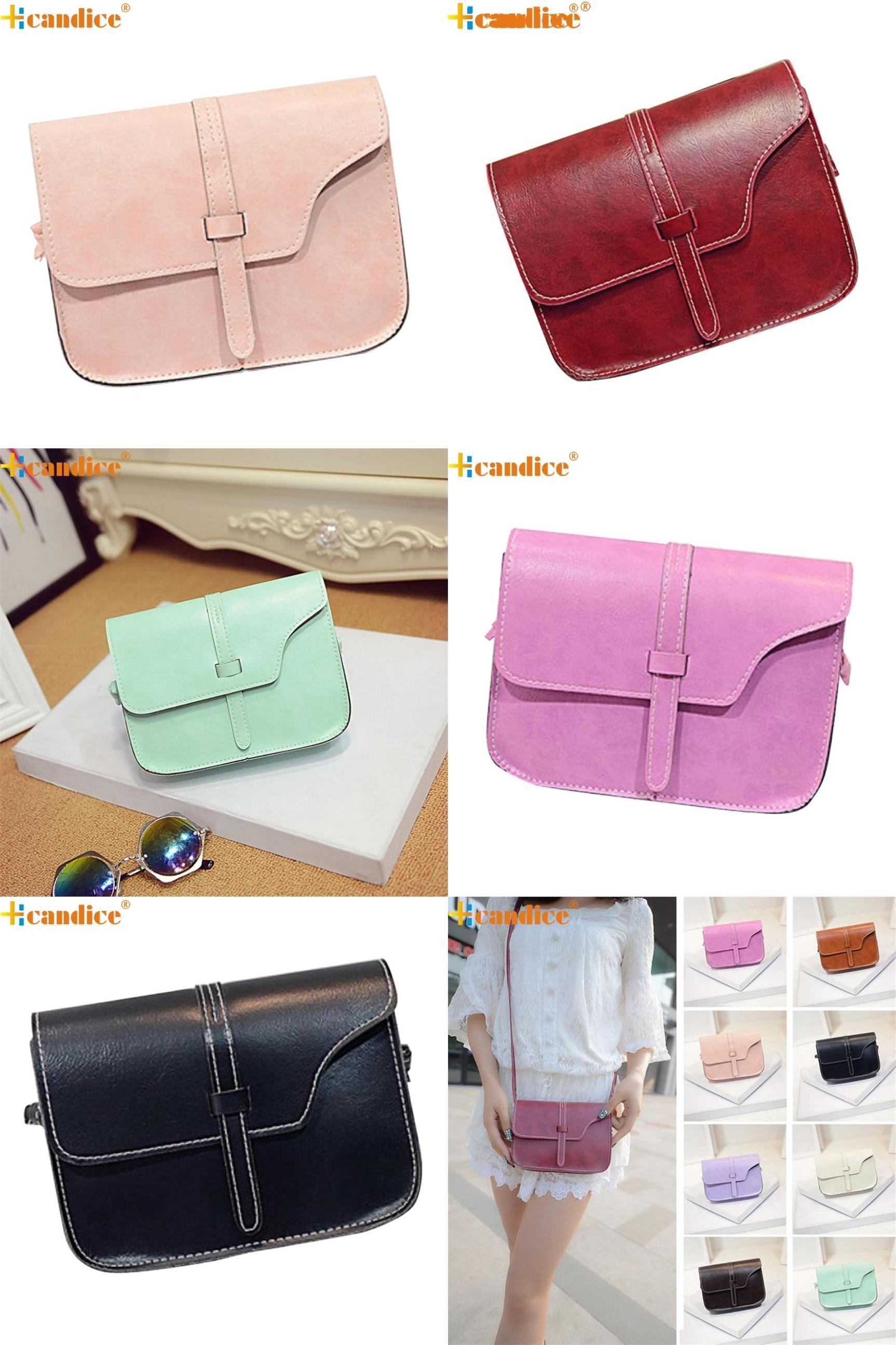81c0f8038f [Visit to Buy] Hcandice Best Gift New Women Girl Shoulder Bag Faux Leather  Satchel Crossbody Tote Handbag drop ship bea666 #Advertisement