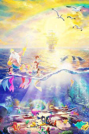 リトルマーメイドの壁紙に使える画像まとめ ディズニー Naver まとめ Thomas Kinkade Disney Disney Art Disney Wallpaper