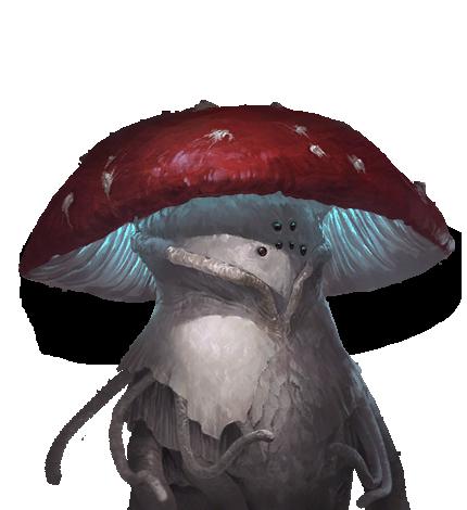 Bob: il fungoide che Octopus il Magico usa come assistente per i lavori più pesanti (è un Amanita Sapiens)