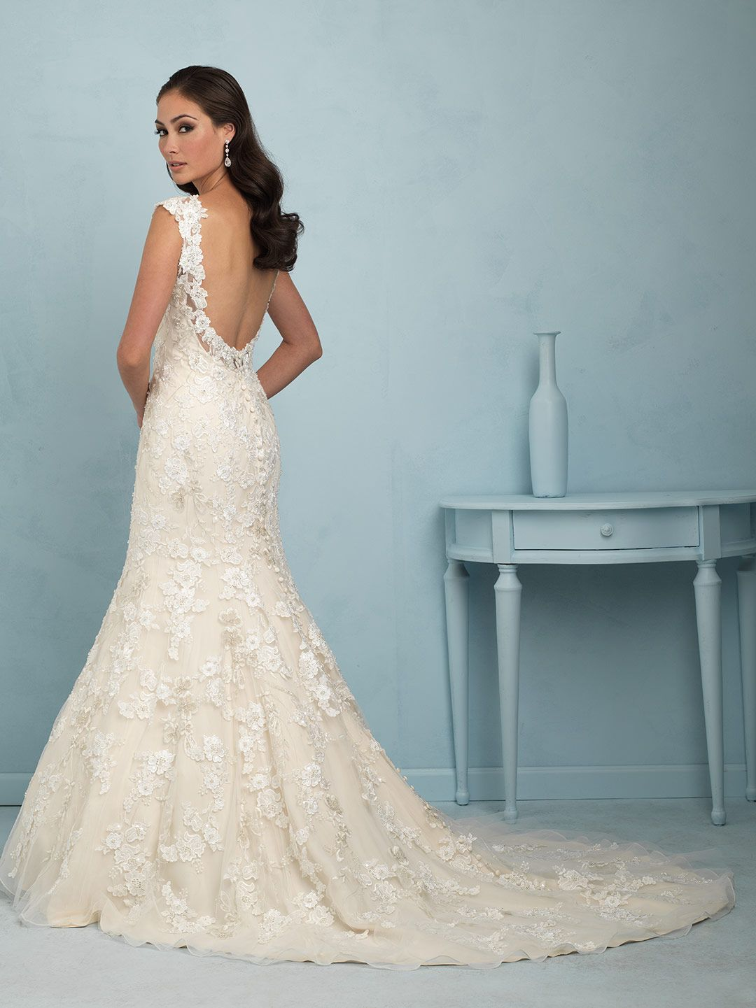 AuroraBridal #Spring2015 this stunning fit and flare lace gown has ...