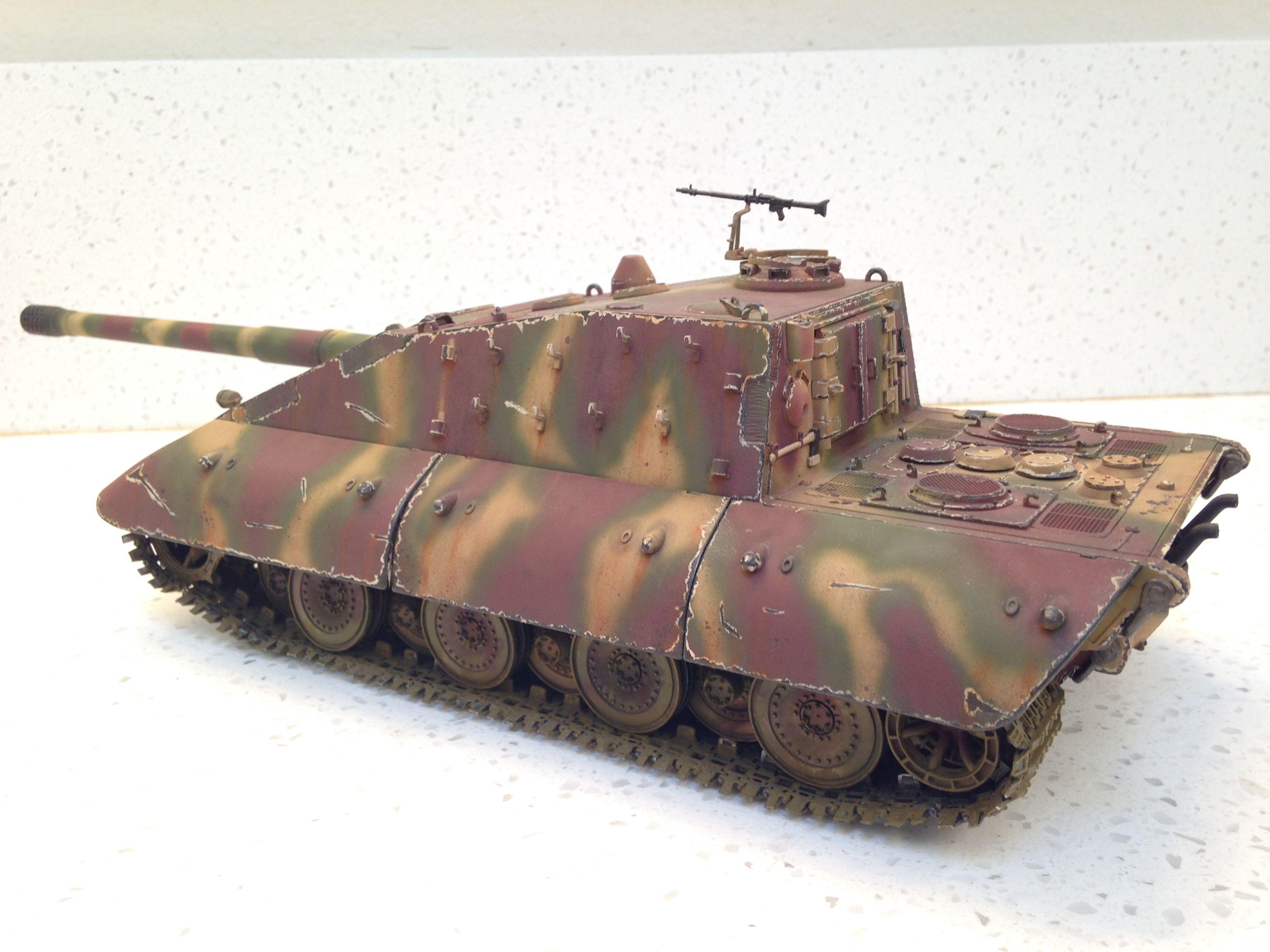 cb572c3ec Built 1/35 Jagdpanzer E100 Tank Destroyer With 170mm Gun And Tank Crews