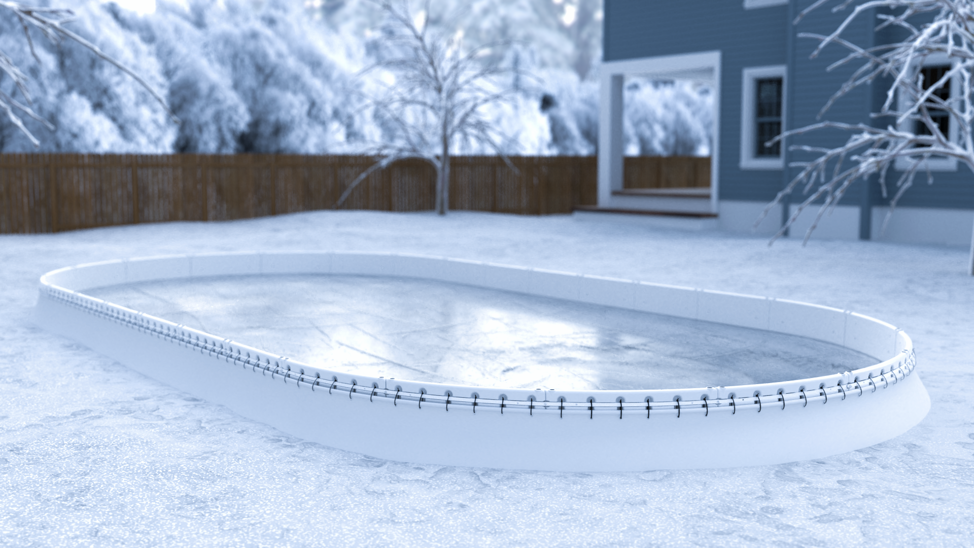 A Better Backyard Hockey Rink   Backyard hockey rink