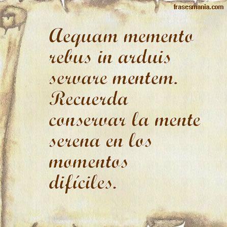 Frases en lat n un momento de reflexi n pinterest for Frases en latin de amor
