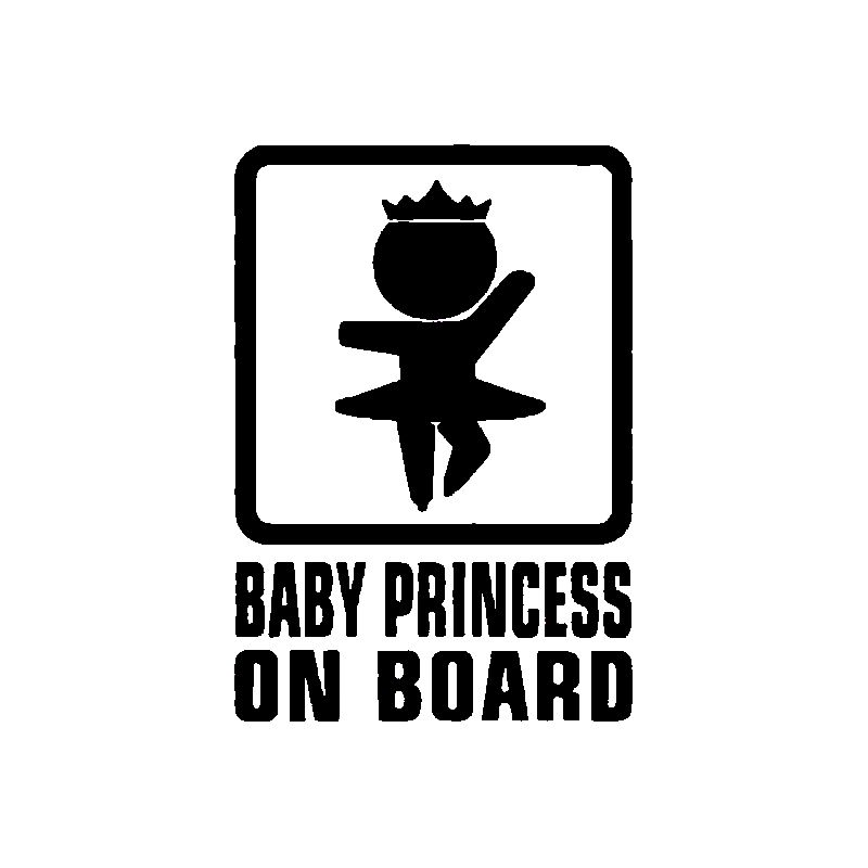 Graphics Customize Decals Vinyl Car Sign Decal Stickers Baby PRINCESS ON BOARD