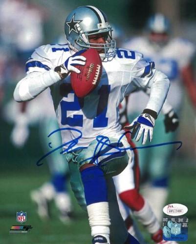 new arrival 19a47 e483e Deion Sanders Autographed Dallas Cowboys 8x10 Photo (Running ...