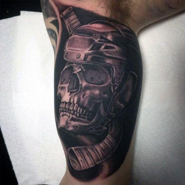 75 Hockey Tattoos For Men Nhl Design Ideas Sleeve Tattoos Half Sleeve Tattoos Designs Upper Half Sleeve Tattoos