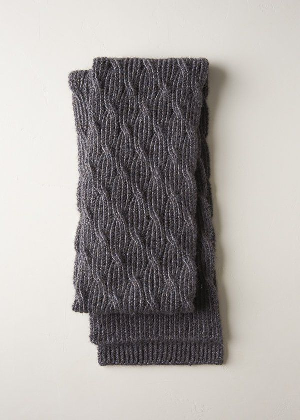 Reversible Rivulet Scarf in Trout Brown | Knitting | Pinterest | Dos ...