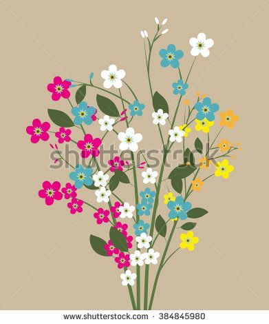 Wildflowers Stock Vectors & Vector Clip Art | Shutterstock