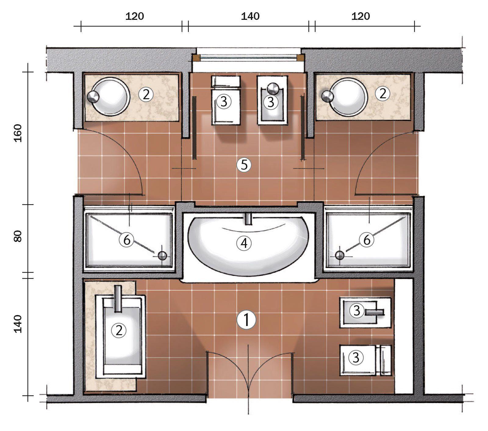 Progetto Bagno 3 Mq ricavare due bagni da uno (con immagini) | bagno rimodellare